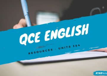 QCE English resources for new ATAR course